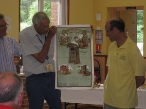 WF Tour Day 8 HF 1143 - Maurie presents Dunny teatowel to Yves small