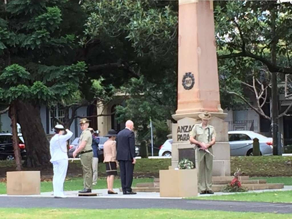 Wreath laying by the NSW Governor, His Excellency General, The Hon David Hurley AC DSC and Mrs Hurley