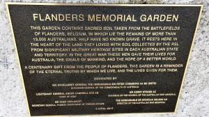 Flanders Memorial Garden Dedication 4 Apr 2017 Plaque IMG_7888