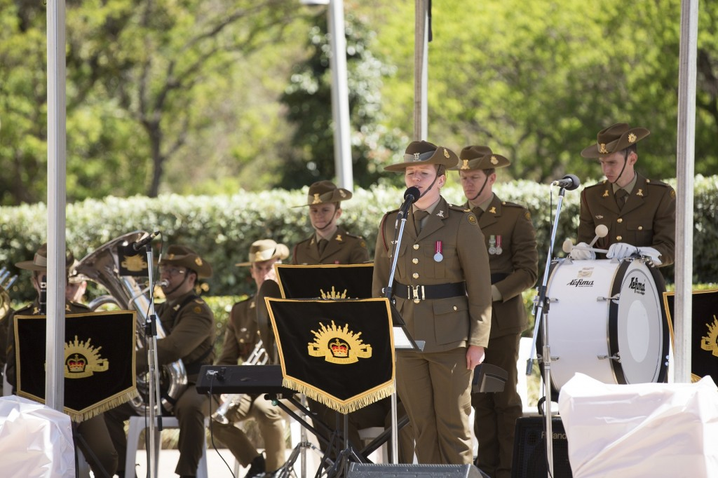ANZ_YPRES_2017_320 Oh Passchendaele sung by Amelia Johnson with the Australian Army Band Sydney