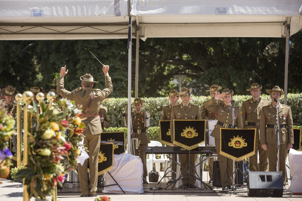 ANZ_YPRES_2017_393 Australian Army Band Sydney playing New Zealand National Anthem led by Jeff Camilleri