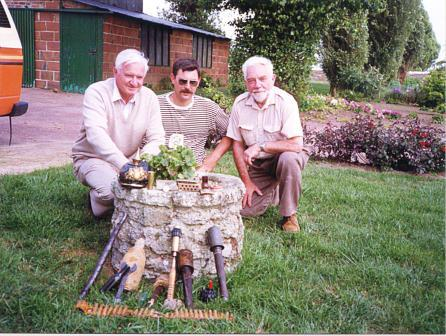 Neville Kidd, Martial Delabarre and John Laffin at Fromelles June 1990