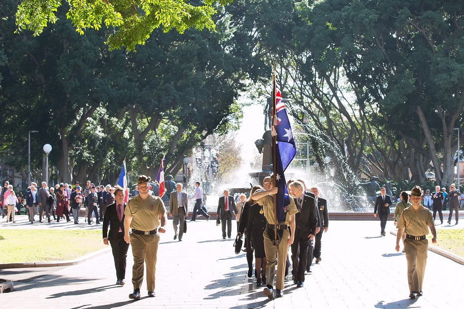 2016 07 19 Fromelles Day Sydney_0058 Solemn procession small cropped