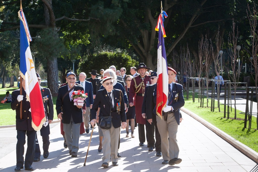 2016 07 19 Fromelles Day Sydney_0647 French veterans in procession small