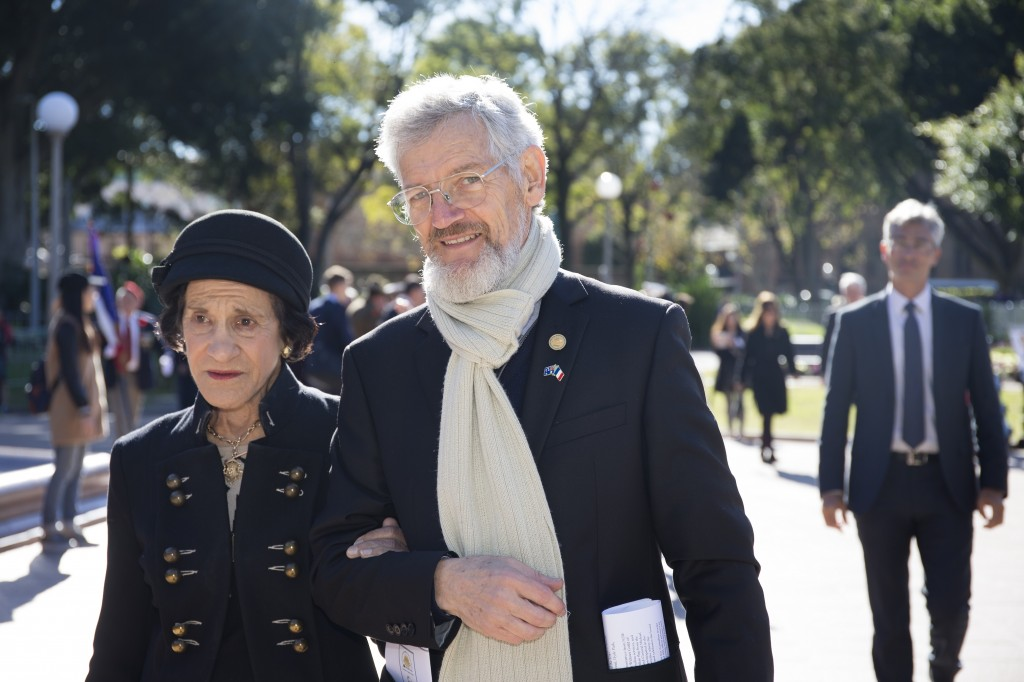Professor the Hon. Dame Marie Bashir and FFFAIF president Jim Munro leading the Solemn Procession