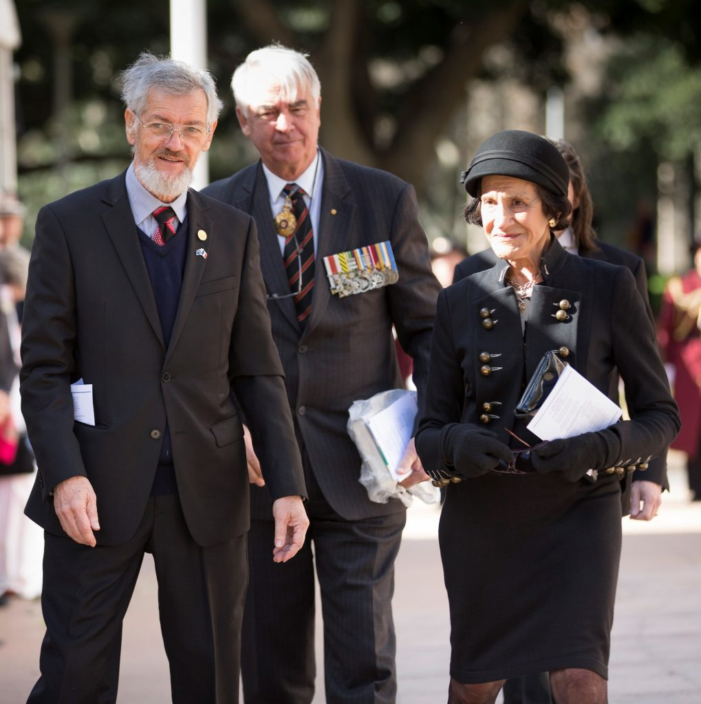 President of FFFAIF, Jim Munro  Lt. General Kenneth Gillespie AC DSC CSM (Ret'd), Chair, NSW Centenary of Anzac Advisory Council Professor the Hon. Dame Marie Bashir AD CVO Image by Rob Tuckwell Photography