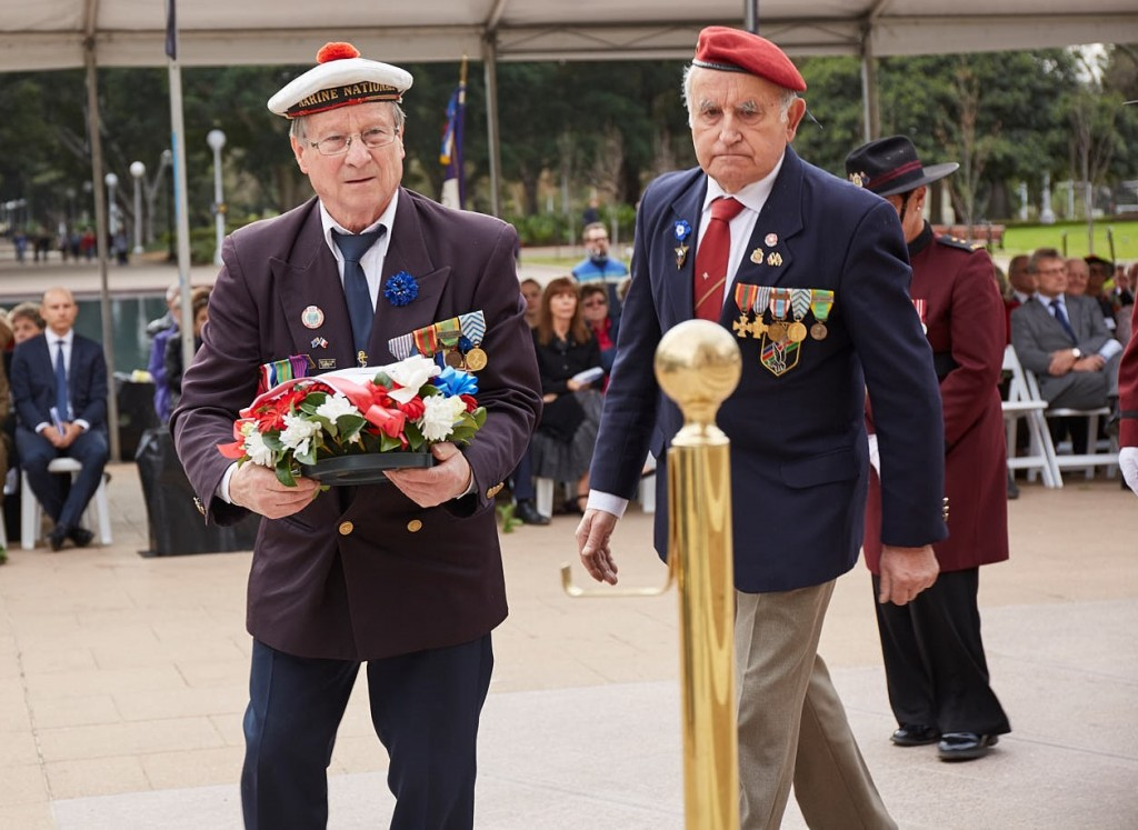 ANZ_Fromelles__2018_183 Wreath laying French War Veterans Jean-Louis Worobec