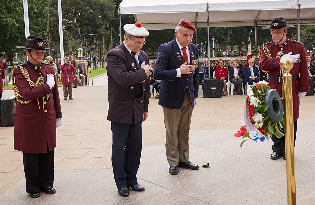 ANZ_Fromelles__2018_186 Wreath laying French War Veterans Jean-Louis Worobec