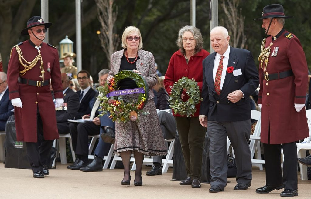 ANZ_Fromelles__2018_200 Wreath laying UNAA Patricia Jenkings, Fromelles Assn Marjorie Manns, Royce Atkinson