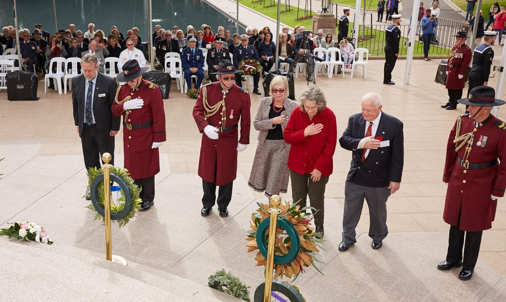 ANZ_Fromelles__2018_208 Wreath laying DVA Hadyn White, UNAA Patricia Jenkings, Fromelles Assn Marjorie Manns, Royce Atkinson