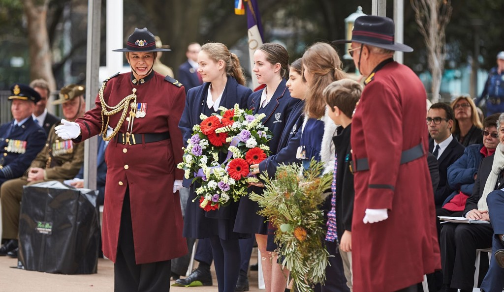 ANZ_Fromelles__2018_239 St Clare's College & Sophia and Cameron Jeffries Wreath laying