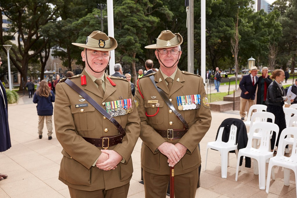 ANZ_Fromelles__2018_325 Brig Neil Sweeney with WO1 One Rod Cornick, Regimental Sergeant Major, Joint Ceremonial